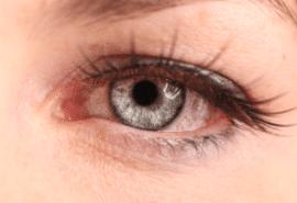 Pink eye close up